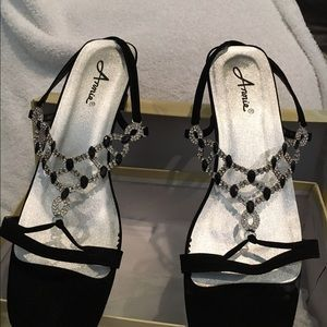 Anniel Shoes - Black/Rhinestone dress shoes