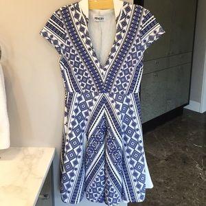 Pencey Dresses & Skirts - Pencey Geo Print Deep V Dress