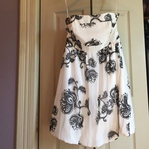 WHBM black and white cocktail dress