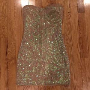 Sequin Strapless bebe Dress