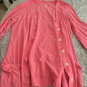 Pink old navy cardigan