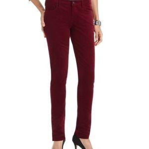 Ann Taylor Loft burgundy corduroy pants
