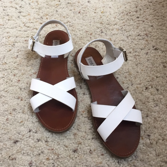 release date online for sale factory price Steve Madden criss-cross sandals