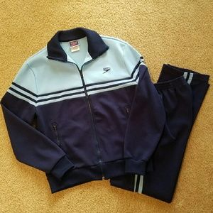 Speedo Jackets & Blazers - SPEEDO Unisex Medium Vintage Track Suit