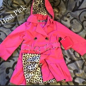 Other - Pink and leopard trench coat