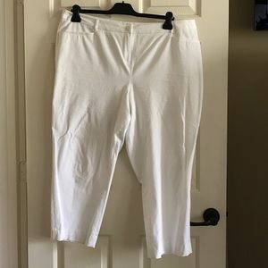 Lane Bryant White ankle pants