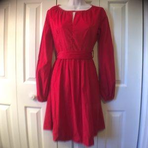 kayce hughes Dresses & Skirts - Stunning red long sleeve corduroy dress