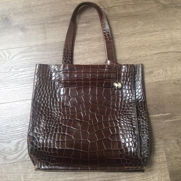 91 off furla handbags super sale brown leather furla tote from nicole 39 s closet on poshmark. Black Bedroom Furniture Sets. Home Design Ideas