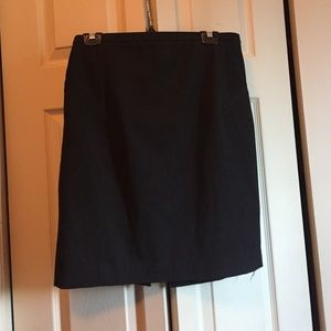 Express black pinstripe professional skirt