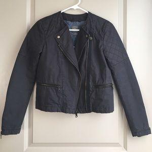 GAP Jackets & Blazers - NWT GAP Gray Quilted Moto Jacket