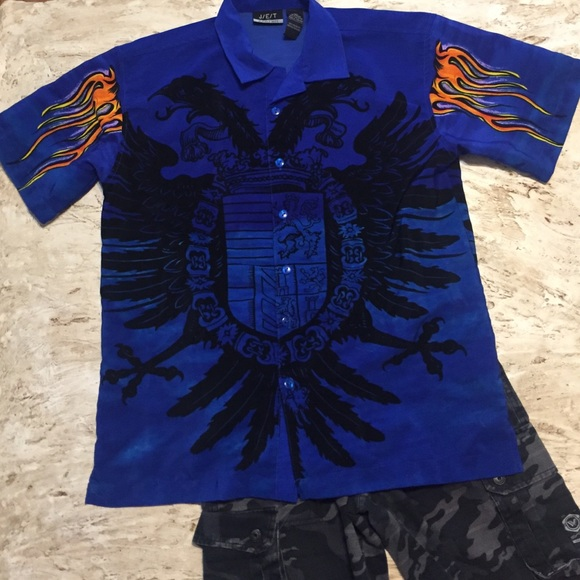 0cb53250d J/E/T strtwr Shirts & Tops | Jet Jet Strtwr Boys Shirt Blue Fire ...