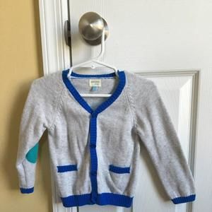 Other - Adorable button cardigan with colored elbow patches!