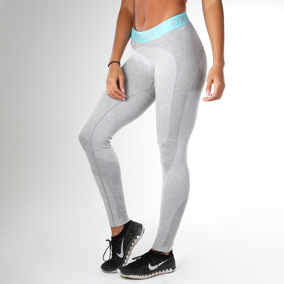 579be8d8a0645 gymshark Pants | Nwt Gym Shark Flex Leggings Light Grey Size Small ...
