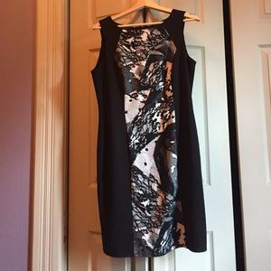 Nine West Black & White Dress, size 12