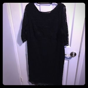 Kiyonna Dresses & Skirts - Classic plus black lace midi dress. Never worn.