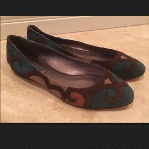 REED EVINS Suede Leather Ballet Flat 9M NEW ITALY!
