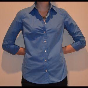 J. Crew Tops - J.Crew blue dress blouse