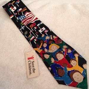 Save the Children NWT Pattern Silk Tie
