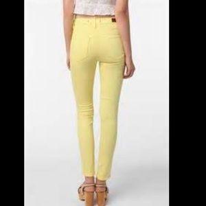 SALE ⭐️BDG cigarette high rise jeans Yellow❤❤