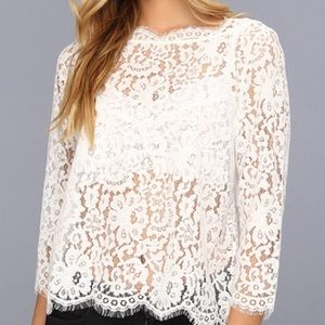 6f7204a1d0df3 Joie Tops - Joie Elvia Lace Top in cream (