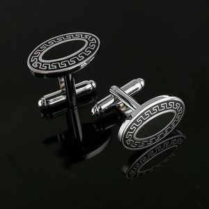 Queen Esther Etc Other - Black Oval Shape Designer Cuff Link