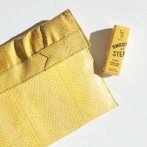 Gorgeous 70's Era Vintage Yellow Clutch