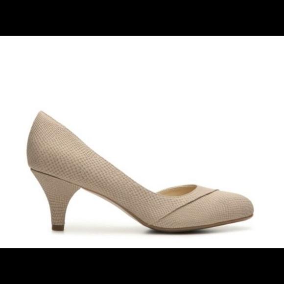 05915f01a47 Naturalizer Shoes - Naturalizer Deva D orsay Reptile Pump Heels Beige