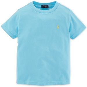 Ralph Lauren Little Boys' T-shirt Cotton Sky Blue