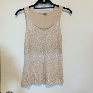 EXPRESS sequinned tank top size XS