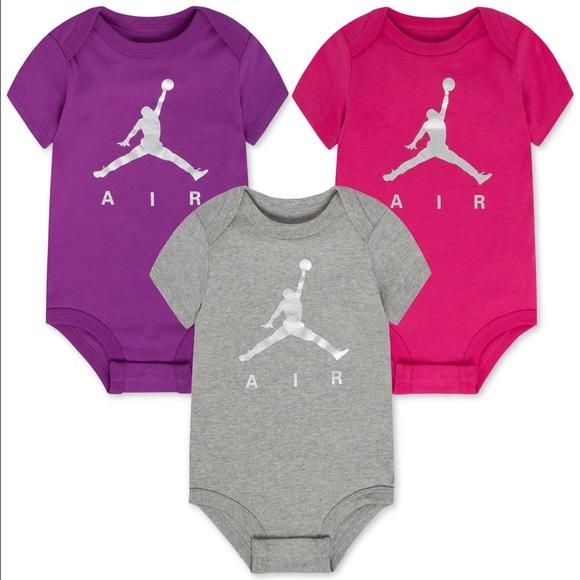 Jordan Other - Jordan Baby Girls' 3 pack assorted bodysuits