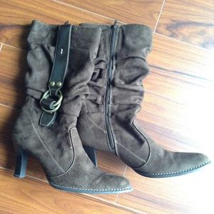 Shoes - PRICE-DROP: Ultra-suede Zip Boot w/ Buckle Detail