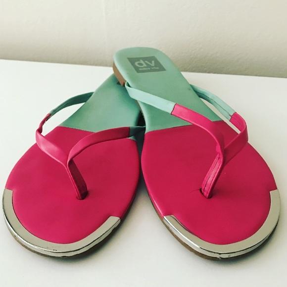 a9b248e0ce47f DV by Dolce Vita Shoes - Watermelon Color Block Flip Flops🍉