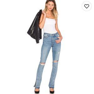 GRLFRND Denim - ISO Natalia high-rise skinny split jeans