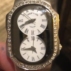 Philip Stein Teslar Accessories - Philip Stein diamond watch with 5 straps