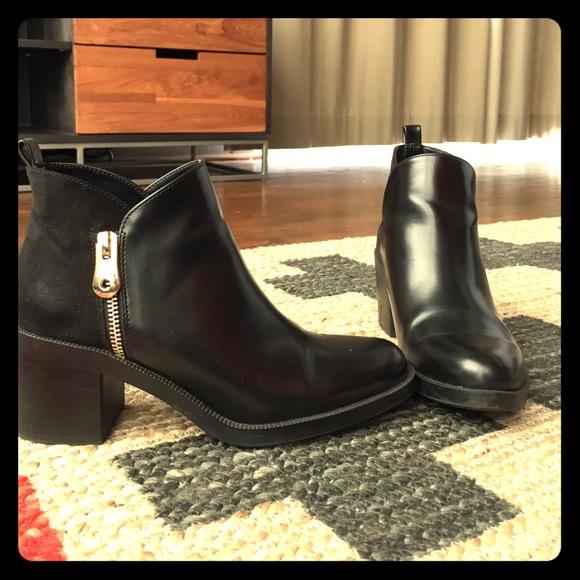 e73d7953d69 Zara Shoes   Black Ankle Boots Womens Sz 37 Us 65   Poshmark
