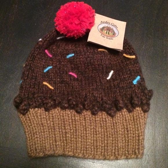 acdc54cea2a Chocolate Cupcake Alpaca winter beanie hat