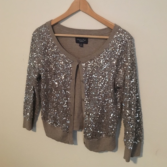 44% off American Eagle Outfitters Sweaters - Sequin cardigan ...