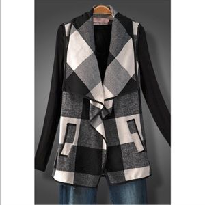 Hannah Beury Jackets & Blazers - LAST ONE!! Plaid Vest with Pockets