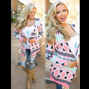 💞COMING SOON💞Candy Color Aztec Cardigan💞