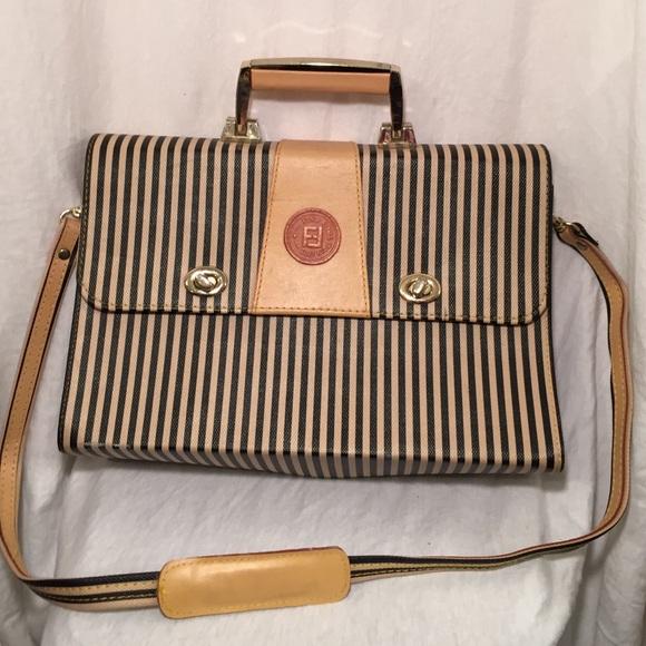Fendi Handbags - Fendi Roma Italy 1925 Vintage Breifcase 252fb5409bff2
