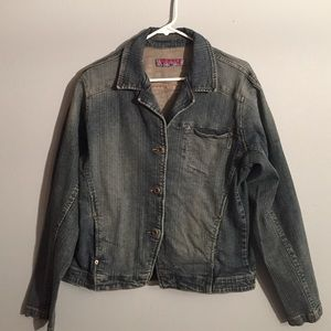 silver jeans jacket on Poshmark