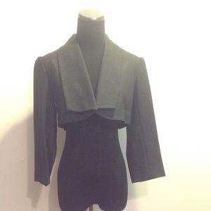 DVF Black Cropped Blazer