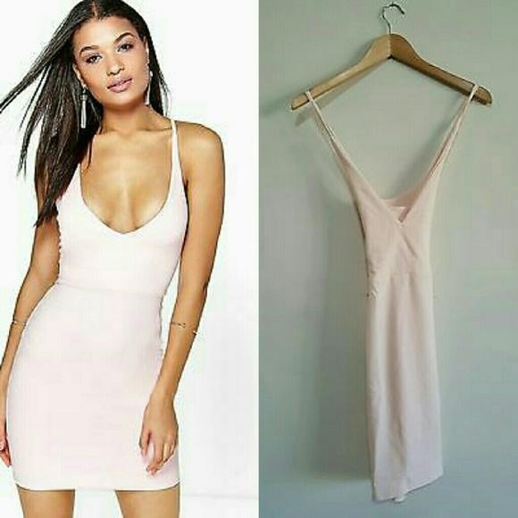 e6fead130e90 Boohoo Dresses | Sarah Lace Up Back Detail Plunge Bodycon | Poshmark