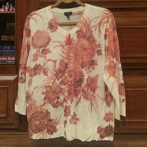Talbots Floral Cardigan/Sweater