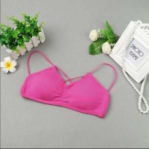 Pineapple.PalmBeach Other - 2/$15! Pink Thin Crisscross Strap Bralette