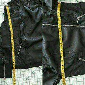 9dd97b43feb56 Boohoo Jackets   Coats - Boohoo Plus Eliza Quilted Faux Leather Jacket