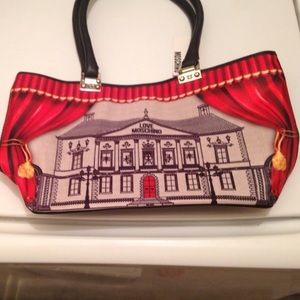 Love Moschino Handbags - authentic Moschino bag Nwt dream house print red