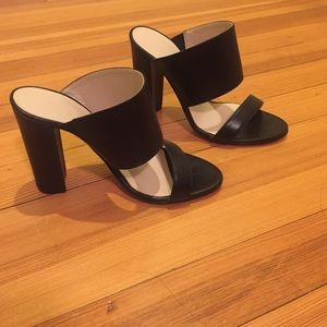 Emerson Fry Black Stacked Heel Sandal 37