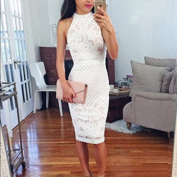 9251ac53 ASOS Petite Dresses & Skirts - ASOS PETITE High Neck Body-Conscious Dress  in Lace
