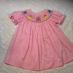 Baby Be Mine Other - Pink smocked dress